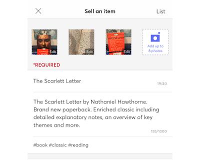Mercari Selling Page