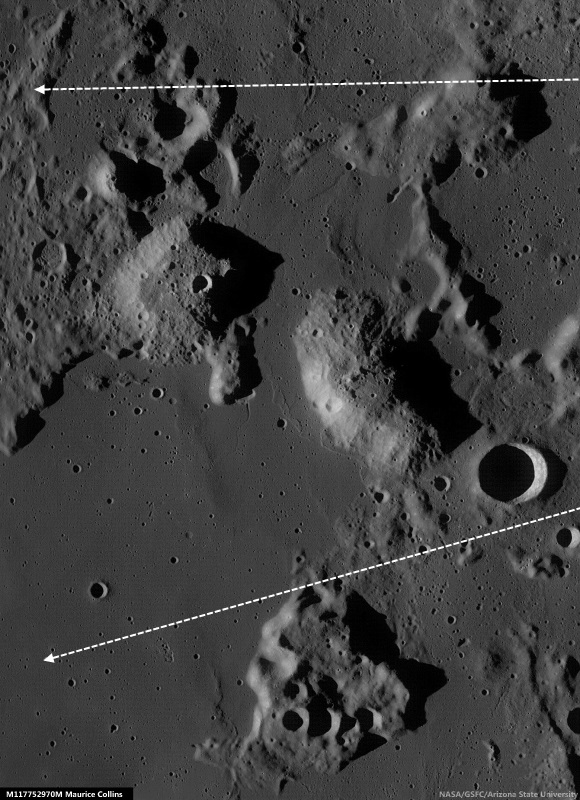 classic fit 12618 38e93 Field of view seen at an oblique angle sketched out (arrows) on a  photometric work-up of an LROC monochrome Wide Angle Camera (WAC) overview  by Maurice ...