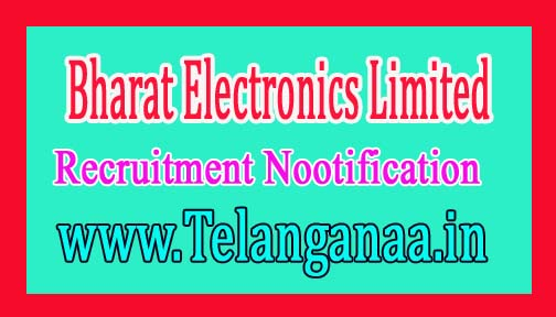 Bharat Electronics Limited BEL Recruitment Nootification 2016