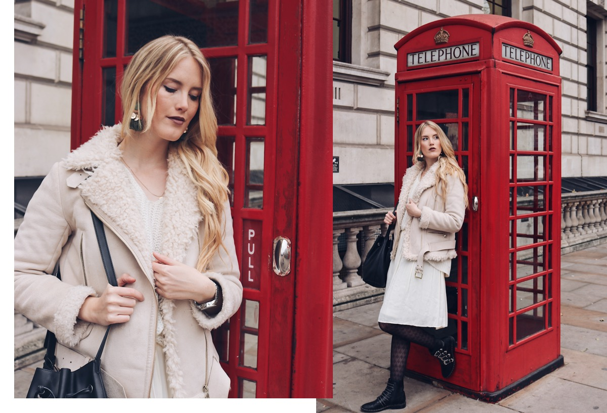 Fashionblog Stuttgart: Outfit All White Gambettes Box Strumpfhose an Telefonzelle London