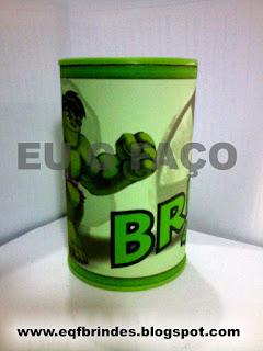 cofrinho hulk, brinde hulk, lembrancinha hulk, tema hulk, festa hulk