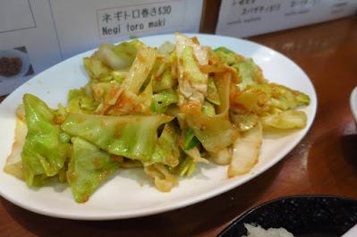 Keria Japanese Restaurant, mentaiko cabbage