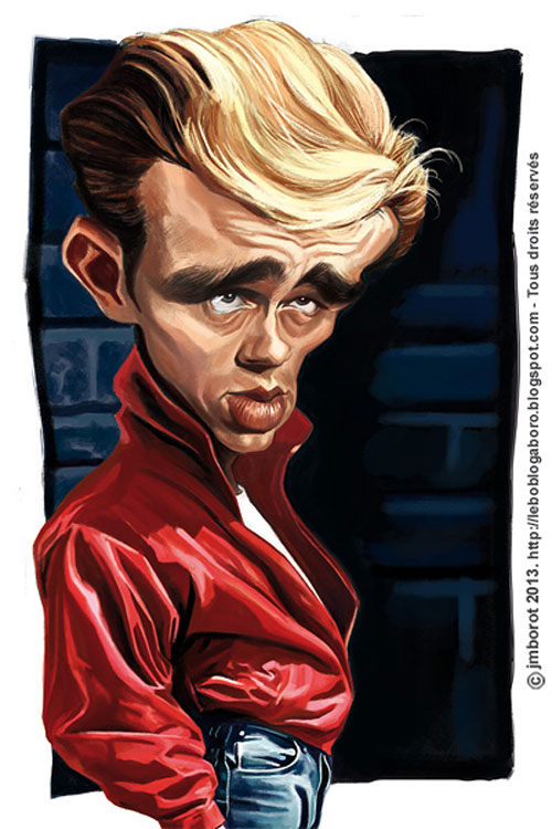 """James Dean"" por Jean-Marc Borot"