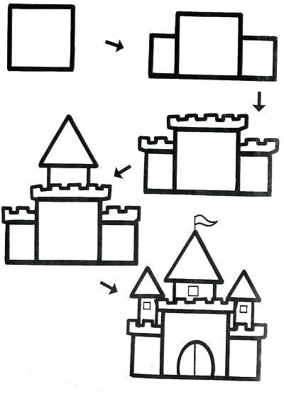 رسم قلعة صحراوية سهلة