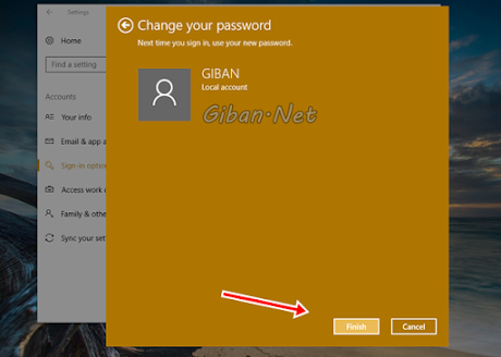 Selesai Hapus Password Windows 10