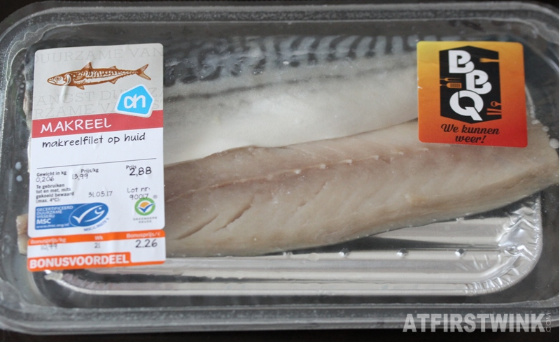 Albert Heijn AH makreelfilet op huid mackerel fish supermarket