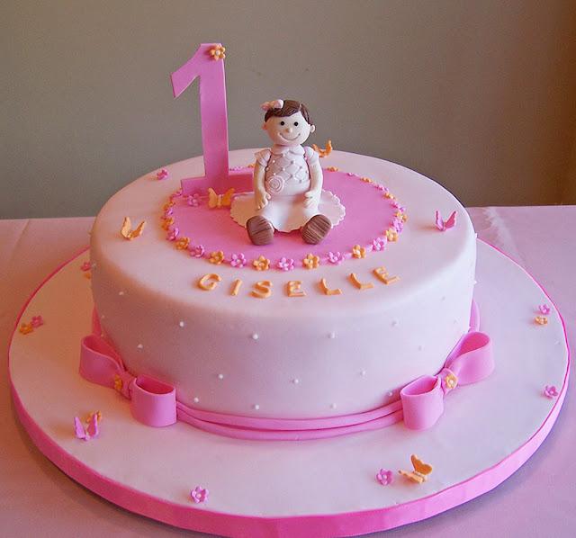 Hình ảnh bánh kem, bánh sinh nhật 1 tuổi dễ thương cho bé