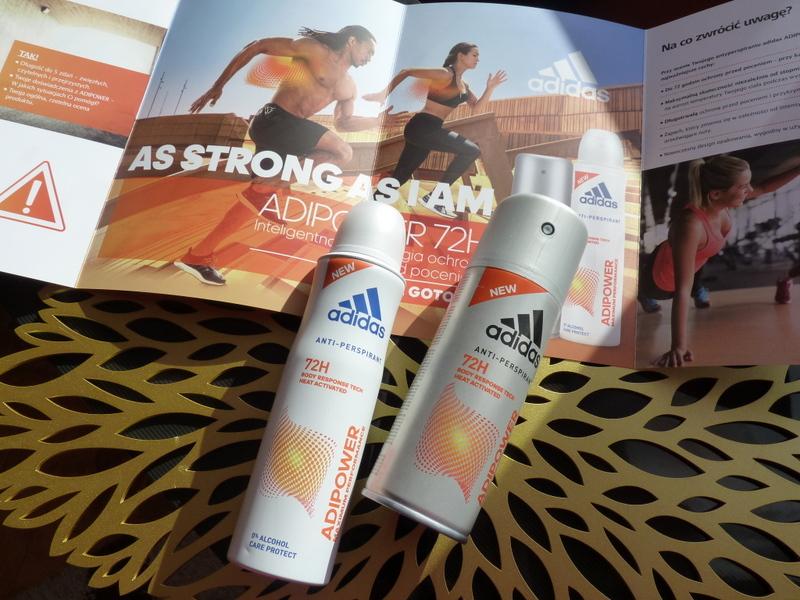 #ADIPOWER #AsStrongAsIam , ochrona przed potem, ochrona antyperspirant, ochrona przed potem podczas treningu