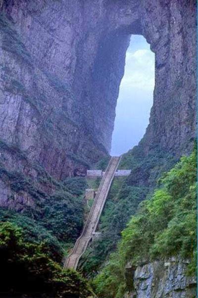 unik,terjal,lembah,anak tangga