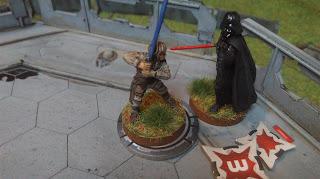 Darth Vader and Luke Skywalker face off