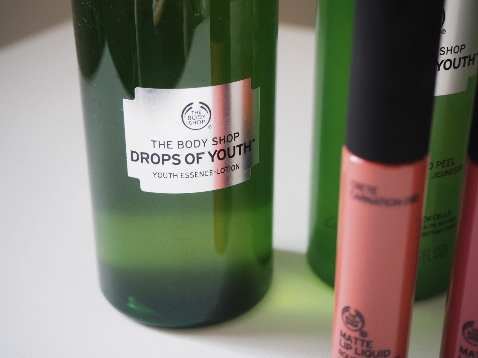 Beauty: A Little Body Shop Haul | Hollie In Wanderlust | Drops of Youth Liquid Peel