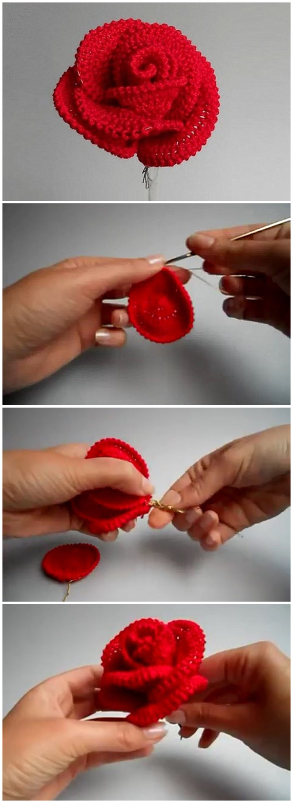 How to Crochet the Perfect Rose