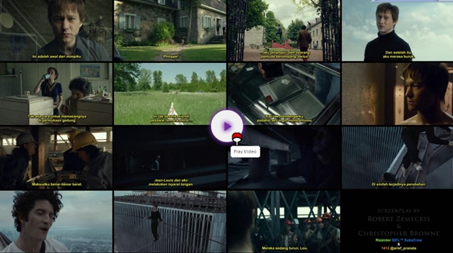 Screenshots Download Film Gratis The Walk (2015) BluRay 480p MP4 Subtitle Indonesia 3gp