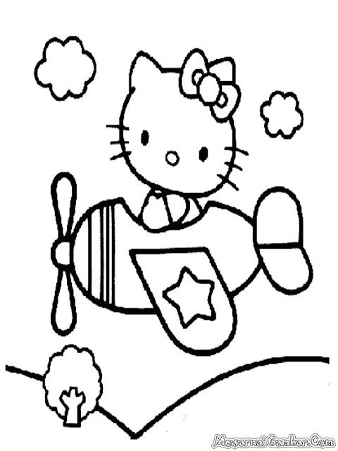 Hello Kitty Naik Pesawat Terbang