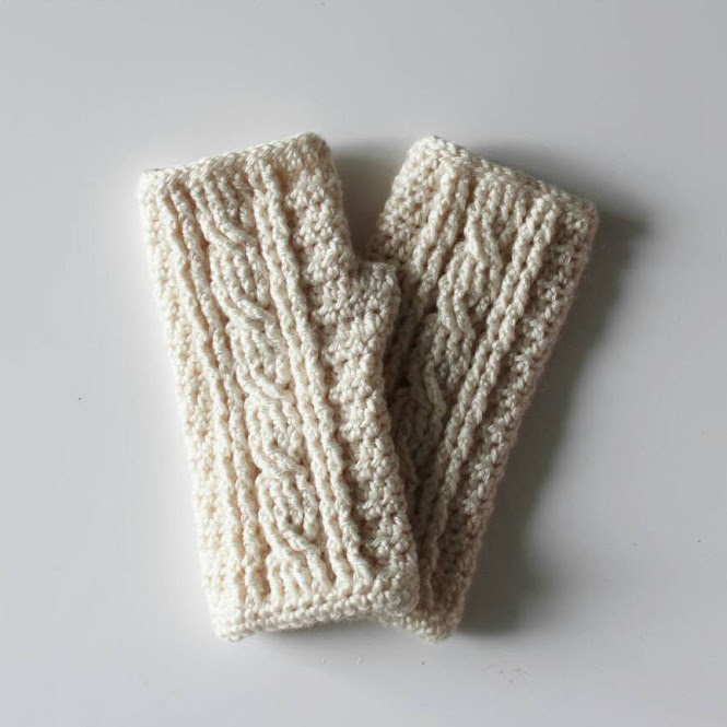 Beautiful Crochet Cable Projects: Cabled Wrist Warmers