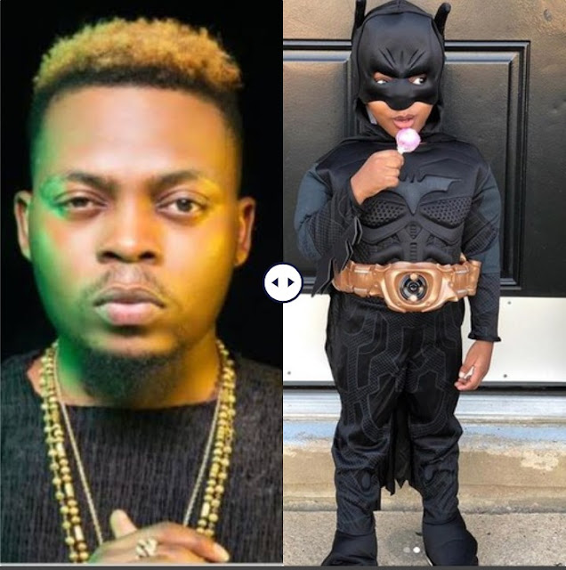 Olamide's Son Rocks Batman Costume To Celebrate Halloween