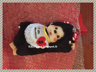 la Monchhichi Jol Chuchuchhichi Black ,référence 258300, kiki, vintage, peluche, collection