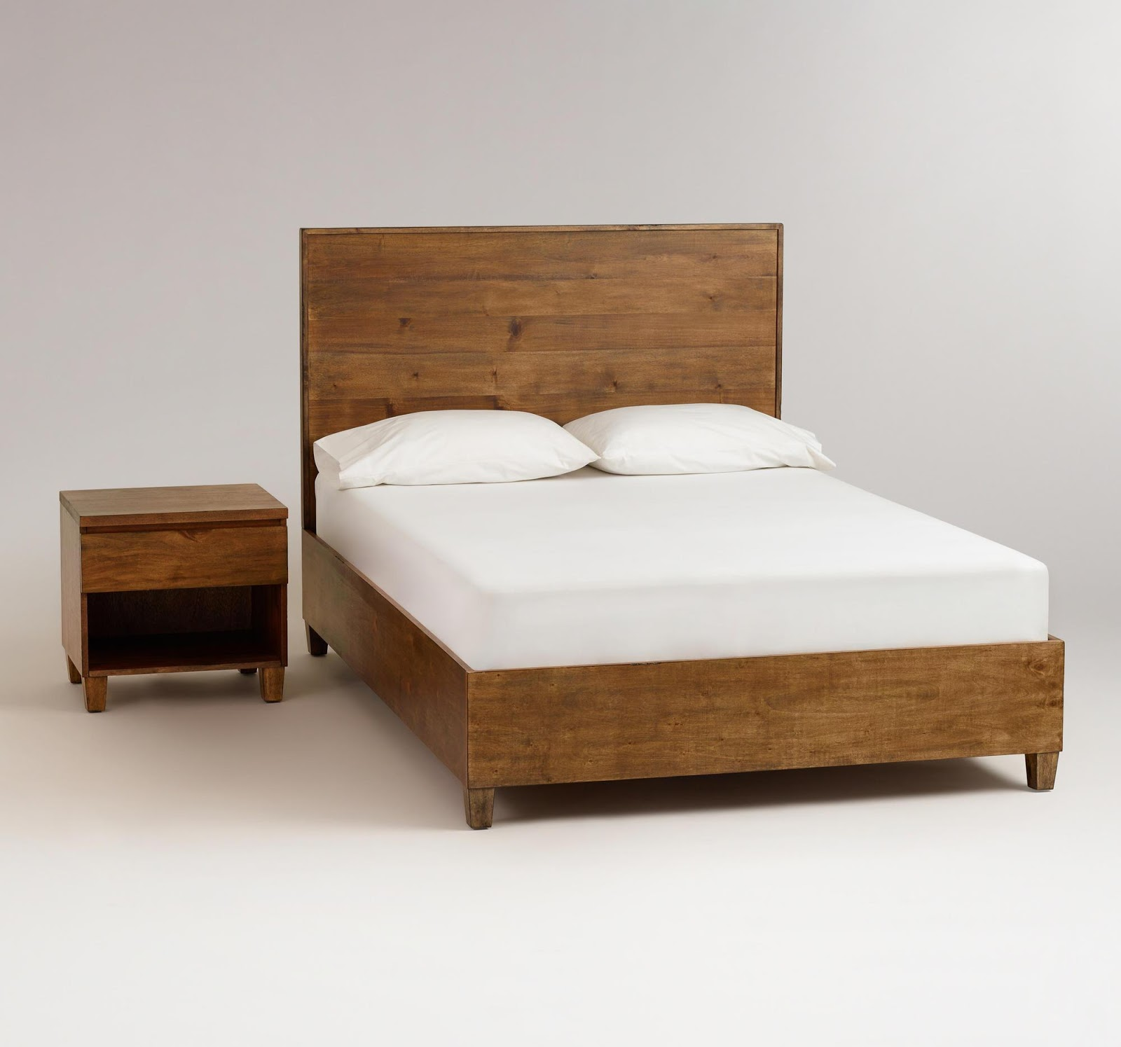 Home priority homey feeling of rustic bed frames ideas for Simple bed designs