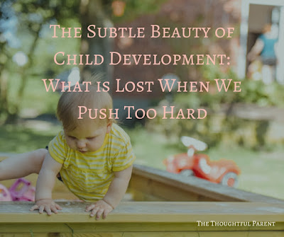 The Subtle Beauty of Child Development: What is Lost When We Push Too Hard