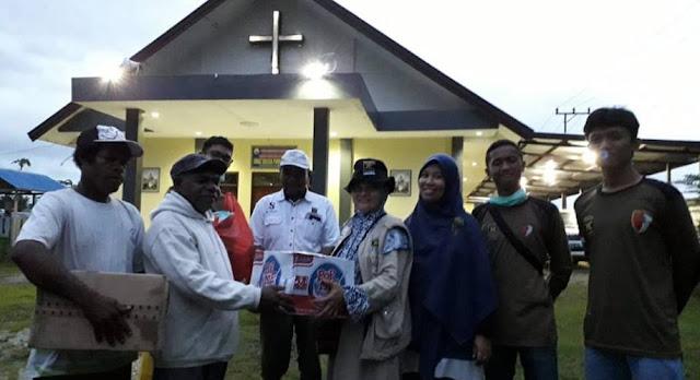 PKS Serahkan Bantuan Kepada Jemaat Gereja di Sentani Papua