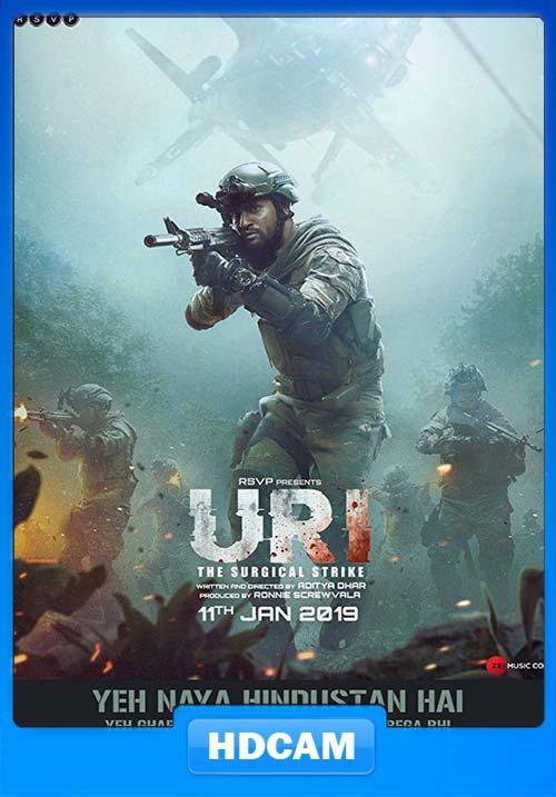 Uri The Surgical Strike 2019 Hindi 720p PreDVDRip x264 | 480p 300MB | 100MB HEVC