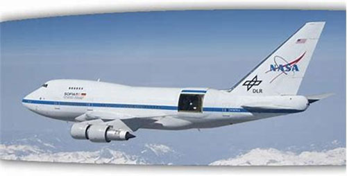 SOFIA does infrared astronomy above 99% of the atmospheric water (Source: Astrosociety.org)
