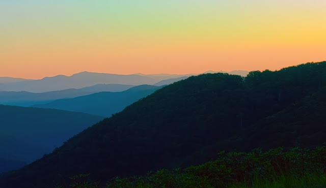 a Picture from The Great Smoky Mountains sunset