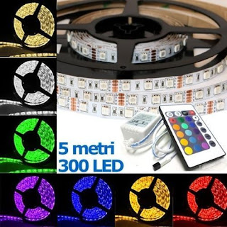 KIT STRISCIA LED 5050 RGB