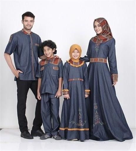 Model Baju Muslim Couple Keluarga Terbaru 2017/2018