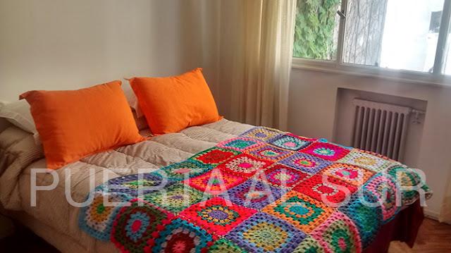 manta crochet cama grande - Mantas tejidas para abrigarte y decorar