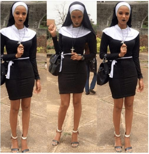 OAU female student rocks sexy nun outfit on costume day