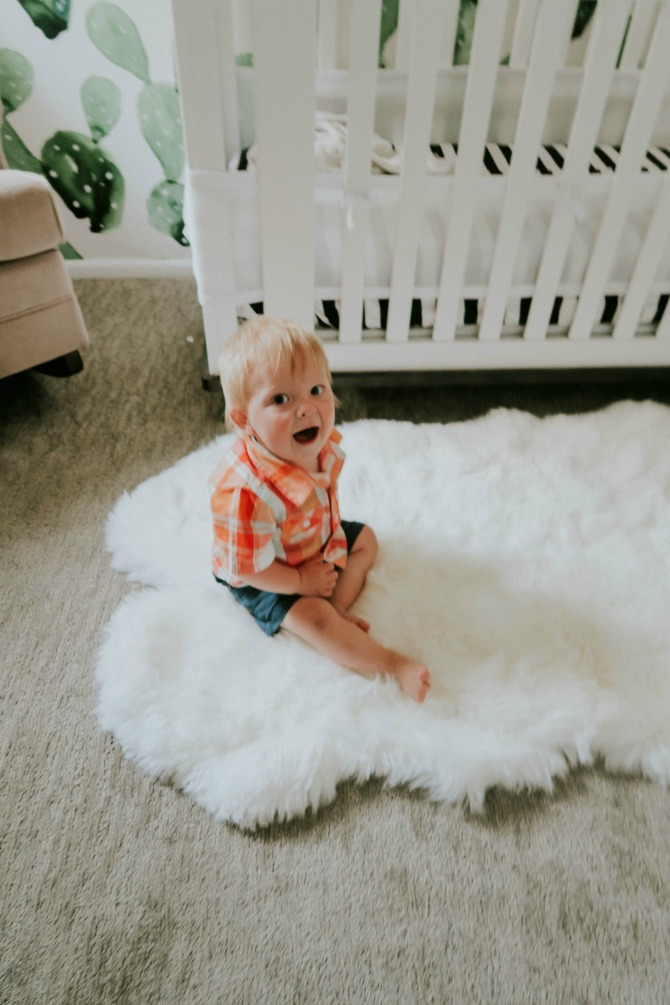 Boy Nursery Ideas: Benson's Nursery Tour by lifestyle blogger Michelle of Mumsy