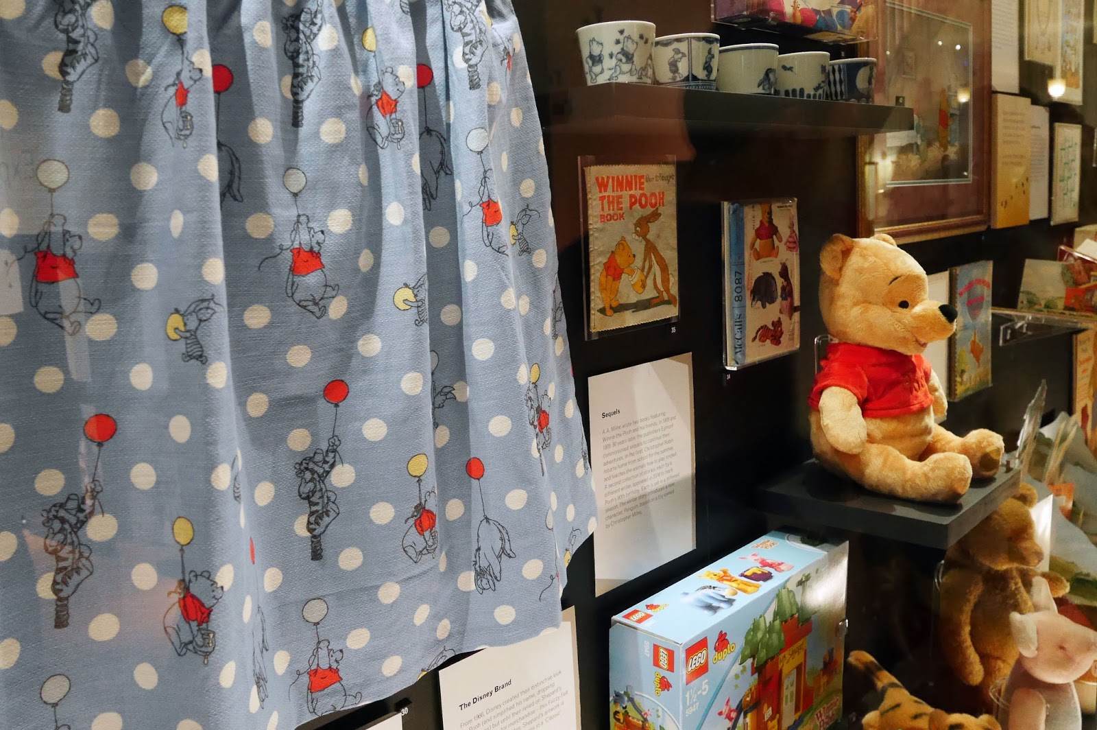 Winnie the Pooh memorabilia at the Victoria and Albert Museum