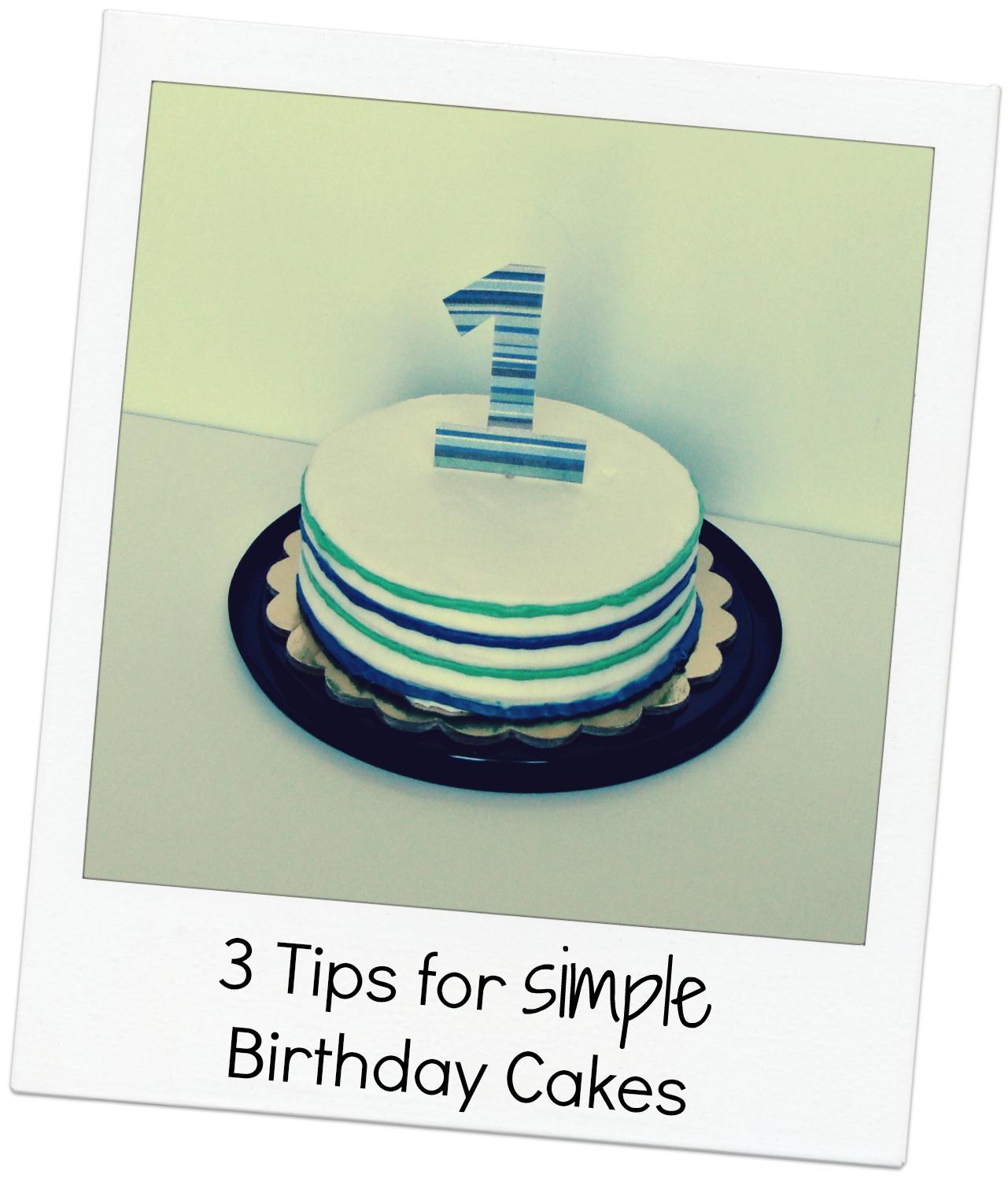 Cute Simple Birthday Cake Ideas