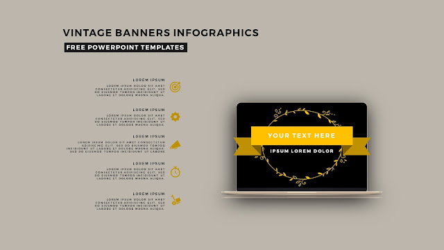 Vintage Banners Infographic Free PowerPoint Template Slide 12