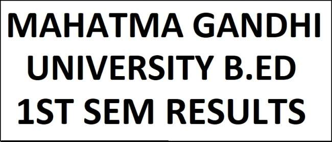 MGU Nalgonda B.Ed 1st Sem Results March 2018