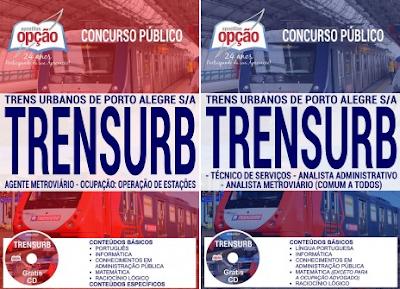 Apostila concurso Trensurb 2017 GRÁTIS TESTES para Agente Metroviário ()