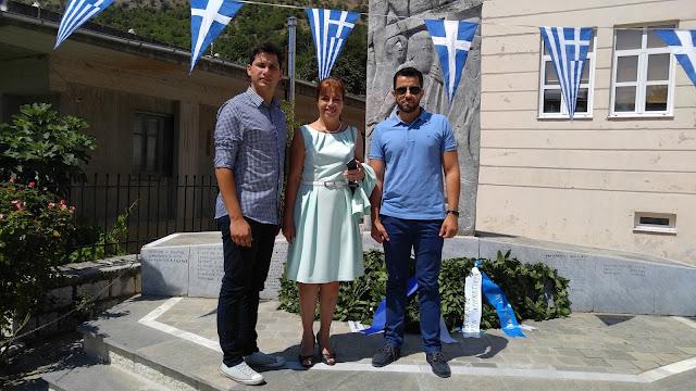 Στις εκδηλώσεις μνήμης των εκτελεσθέντων του Κεφαλόβρυσου βρέθηκε η Δήμαρχος Σουλίου