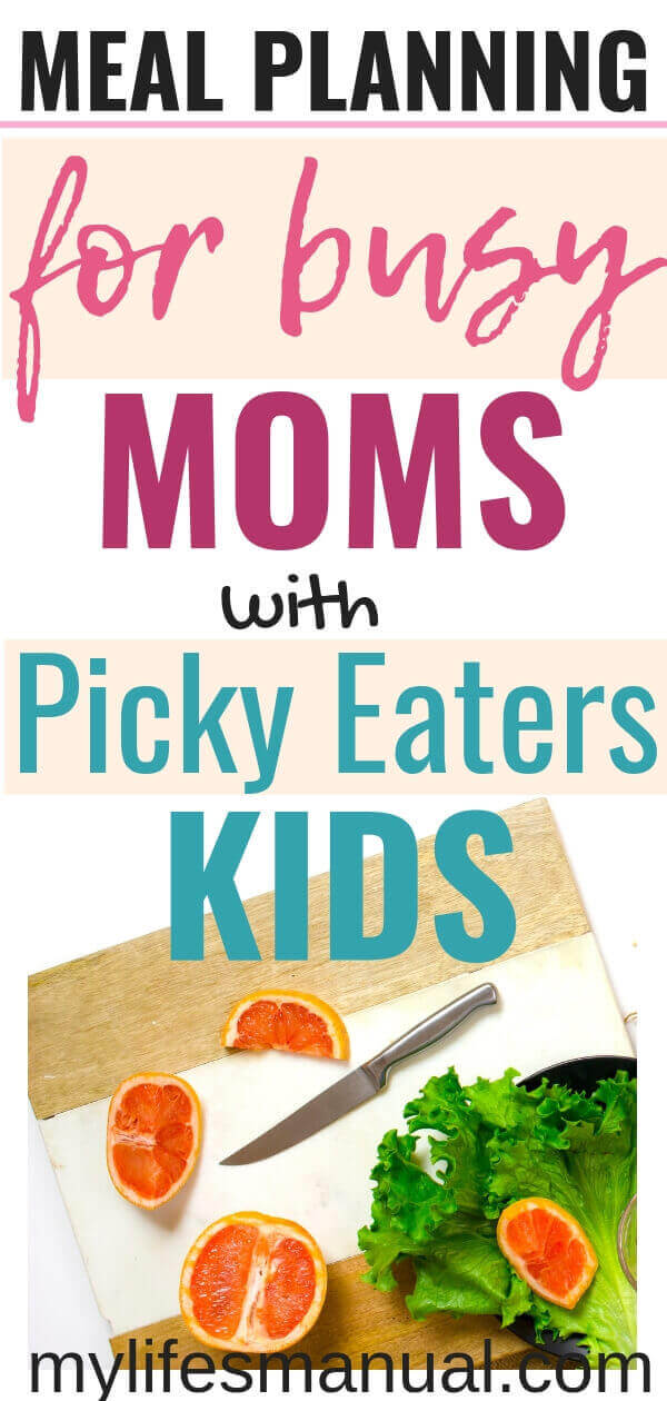 Meal Planning for Busy Moms with Picky eaters kids
