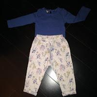 Pantalon fleuri et tee-shirt manches longues NEXT
