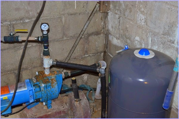 shallow well pump set up