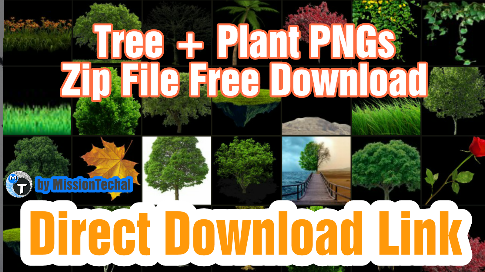 Part01] HD Tree PNG Zip File For Photoshop and PicsArt | Nature PNG