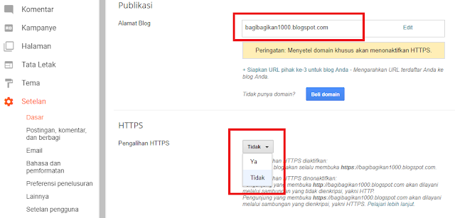 Cara Mengaktifkan https Blogger Custom Domain