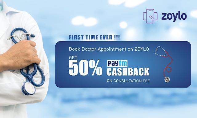 Get 50% Cashback on Doctor Consultation Fee on ZOYLO