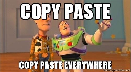 copy paste everywhere