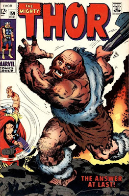 Thor #159, storm giant, Thor's origin and Don Blake