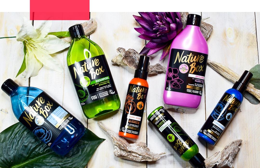 Nature Box in der Drogerie, vegane Pflege für Körper und Haare