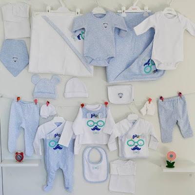 mavi bebek body, hastane çıkışı seti
