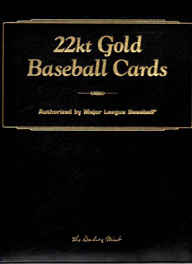 Capewoods Collections 1996 Danbury Mint 24 Kt Gold Baseball Cards