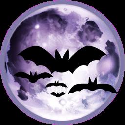 Luna con murciélagos